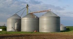 Grain bins in Sholes, Nebraska. Source: Wikipedia commons